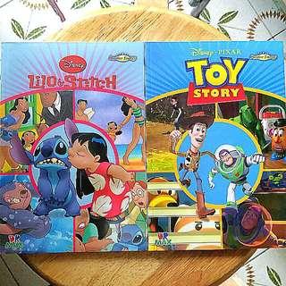Disney 史迪仔&巴斯光年英文故事書2本