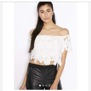 Lipsy Lace Crop Top Size 8