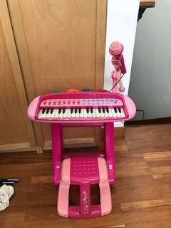Girls piano play set with 🎤