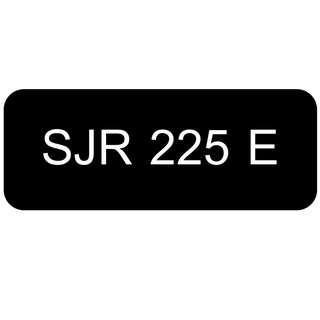 Car Number Plate for Sale: SJR 225 E