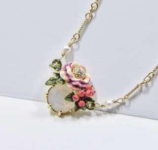 法國出口外貿Nereides 花蕾寶石小巧精緻頸鏈