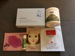Skincare goodie pack + free samples 10pcs & lip balm