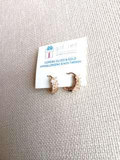 Earrings Tampered Baguette
