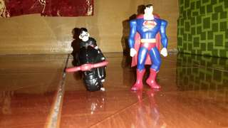 Mcdonalds happy meal superman and robin