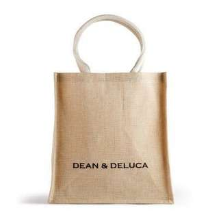 Dean & Deluca Natural Cotton Jute Tote (NEW)