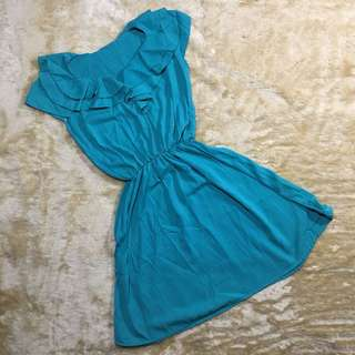 dress - turqouise simple