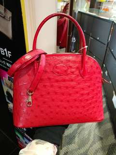 Hermes bolide 27 ostrich