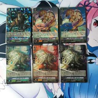 Cardfight Vanguard Great Nature and Megacolony Cards