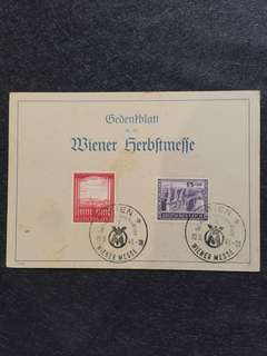 Germany Third Reich Austria Semi Postal Vienna Fair w Commemorative Cancel Postal Card Used