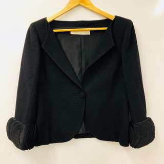 Valentino black jacket size 8