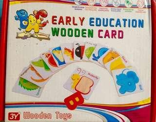 Wooden alphabet cards
