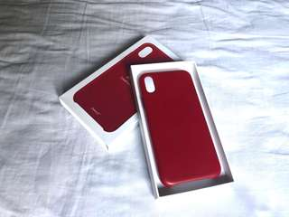 iPhone X Product Red Leather Case