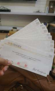 Gibi Shoes 500 hundred gift certificate