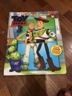 Pre-loved toy story 3 mix-and-match book
