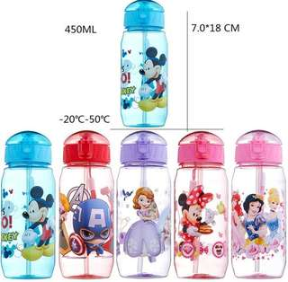 Kids Disney Water Bottle Straw