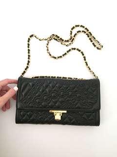 BOTTEGA GIOTTI Authentic detailed black leather evening bag