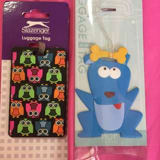 Brand new luggage tags in 2 designs 2 for $5mailed free mailing
