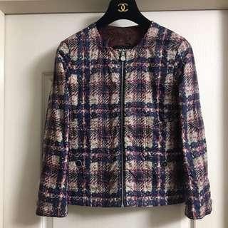 Chanel fake print jacket used Sz 34