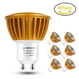 52. GU10 LED Bulbs Cool White 6000K, 7W COB LED Energy Saving Bulbs