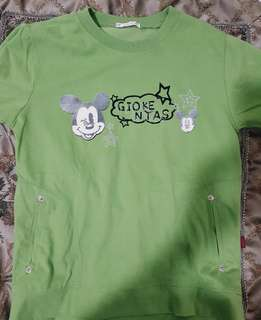 Green Mickey Mouse T-Shirt