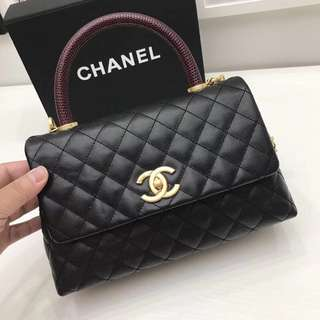 Chanel Coco Handle Lizard
