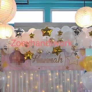 Backdrop balloon chain @zoeyhandiwork