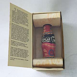 COCA COLA Coke The Contour Collection Miniature Folk Art Bottle 07254