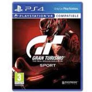 Gran turismo sports- ps4 new
