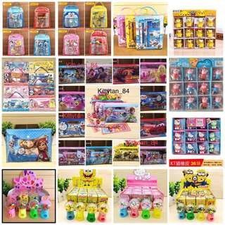 Goodie bags / Frozen, Mickey, Hello Kitty,Doraemon, Minion, Princess, Spider-Man, Pokémon, Carz, Thomas, Tsum Tsum, Pikachu