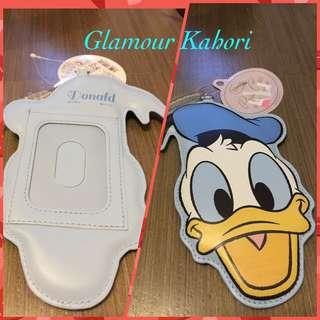 日本直送正版唐老鴨Donald Duck, Daisy Duck, 小魚仙Ariel證件八達通套