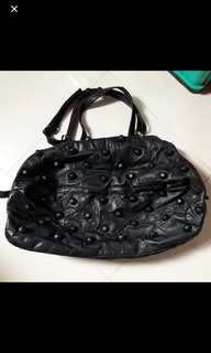 #mauiphoneX Studed leather bag (kulit sapi asli)