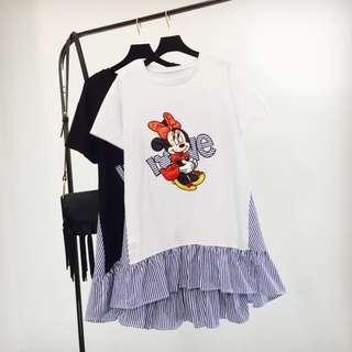 PO Minnie Fake 2 Piece Like Dress