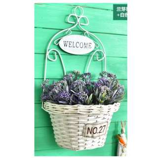 Welcome flower basket