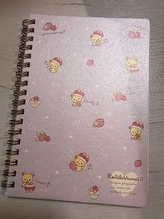 rilakkuma notebook