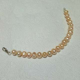 Pastel Orange Pearl Bracelet