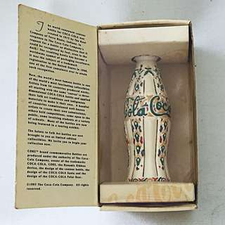 COCA COLA Coke The Contour Collection Miniature Folk Art Bottle Morocco 07254