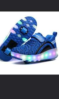[SALES] PROMOTION FOR MONTH OF MAY 2018!!! Double wheel roller shoes with led for kids!