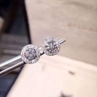 💯GIA Diamond Earring