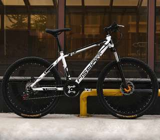 "➡ MT1 FISSION-01 Carbon Steel Mountain Bike 27-Speed 26"" Hydralic Disc Breaks - $278"