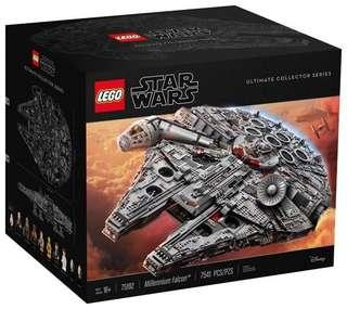 Lego 75192 millennium falcon (no box no manuel book)