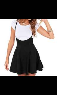 Black pinafore overall