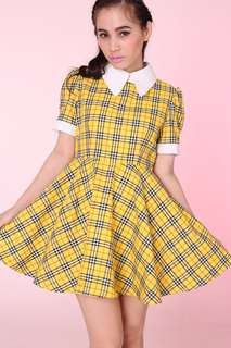 Clueless yellow plaid dress