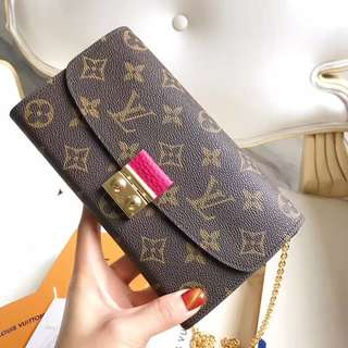LV Croisette Long Wallet with Chain