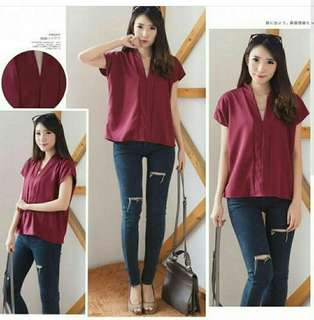 1205 miko blouse Bhn twiscone fit L LD 96cm