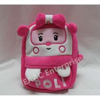 Robocar Poli Amber Kids Kindergarten Backpack School Shoulder Bag (S)