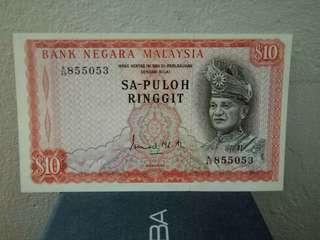 1st Series $10 Sapuloh Banknotes