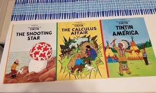 Tintin (3)- Shooting Star, Calculus Affair, T in America