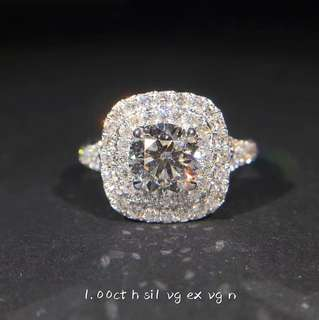 💯GIA 1Carat Diamond Ring