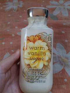 Bath and body works lotion in warm vanilla sugar