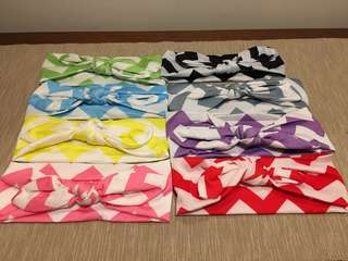 8Pcs Ribbon Headband
